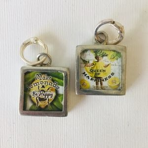 Queen of Happiness Pick Up Sticks Reversible Charm